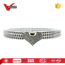 Fancy pearl chain belt