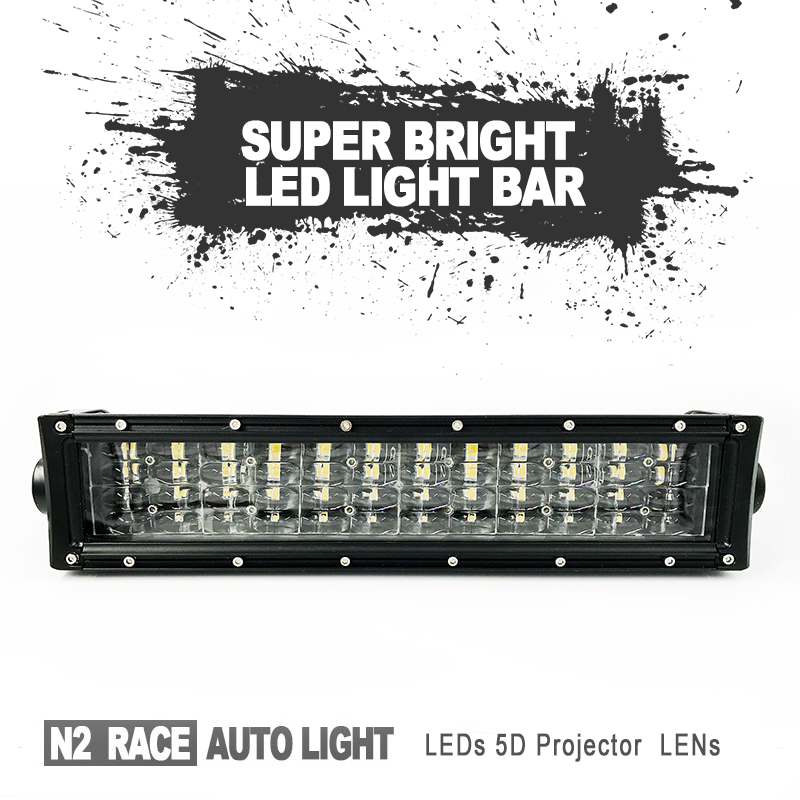 Wholesale Four Row Super Wide Output light 5D HOT SALE LED BUMPER GRILL 120W LIGHT BAR KIT