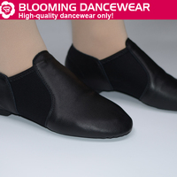 Slip On Black Leather Neoprene Jazz