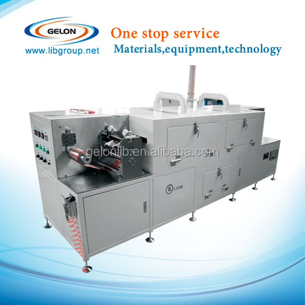 180mm wide size continuous roll to roll coating machine with dry function for lithium ion battery produce pilot line
