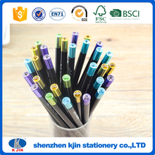 Wholesale 7inch hb Blackwood pencil with round shape OEM LOGO HB pencil for shcool