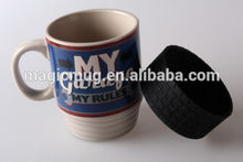Cheap ceramic Coffee Mug With silicon Tire Base