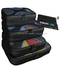 4 Set Packing Cubes - Travel Organizers with Laundry Bag