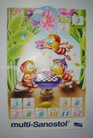 Cheap 2014 Wholesale Printed PVC Wall Calendar