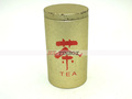 Gold Printed Round Tea Tin Can