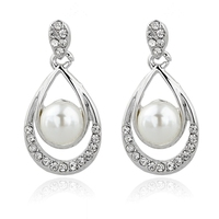 Bridal Pearl Earrings Round Pearl Earrings Wedding Jewelry Bridesmaid Gift