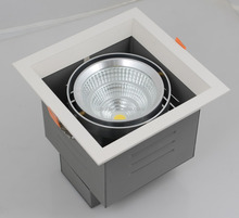 high quality aluminum housing 25W led grille downlight dimmable cob led grid down lamp