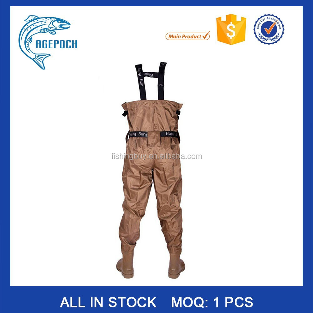 High Quality breathable Unisex Stocking Foot Pants Size 38-46 Chest fishing waders
