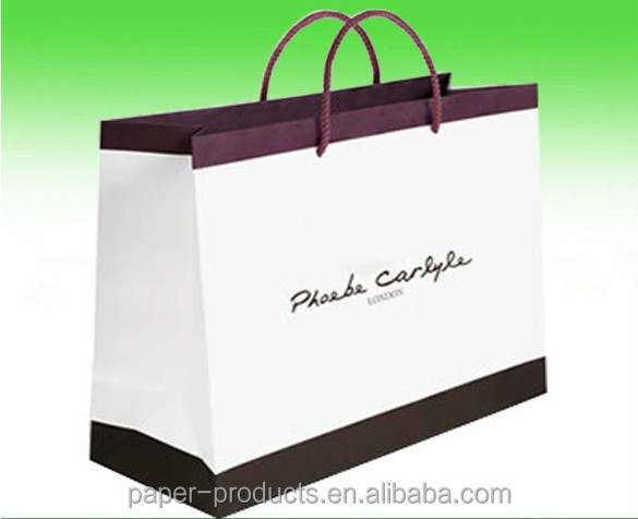 white kraft large paper shopping bags