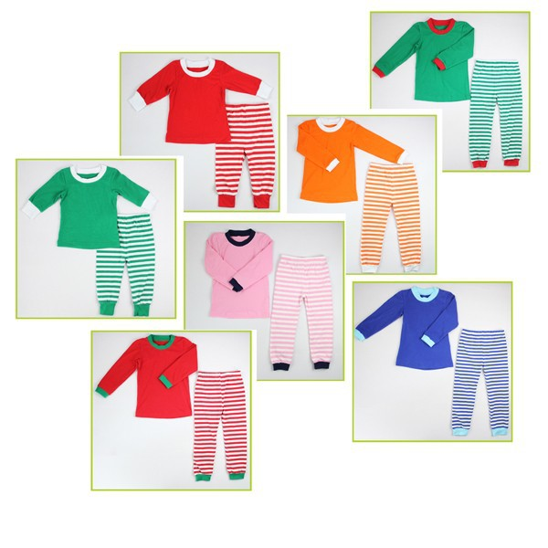 2017 latest style Sleep Clothes 100% Cotton knitted Thermal kids thermal Kids 100 Cotton Pajamas For Girls