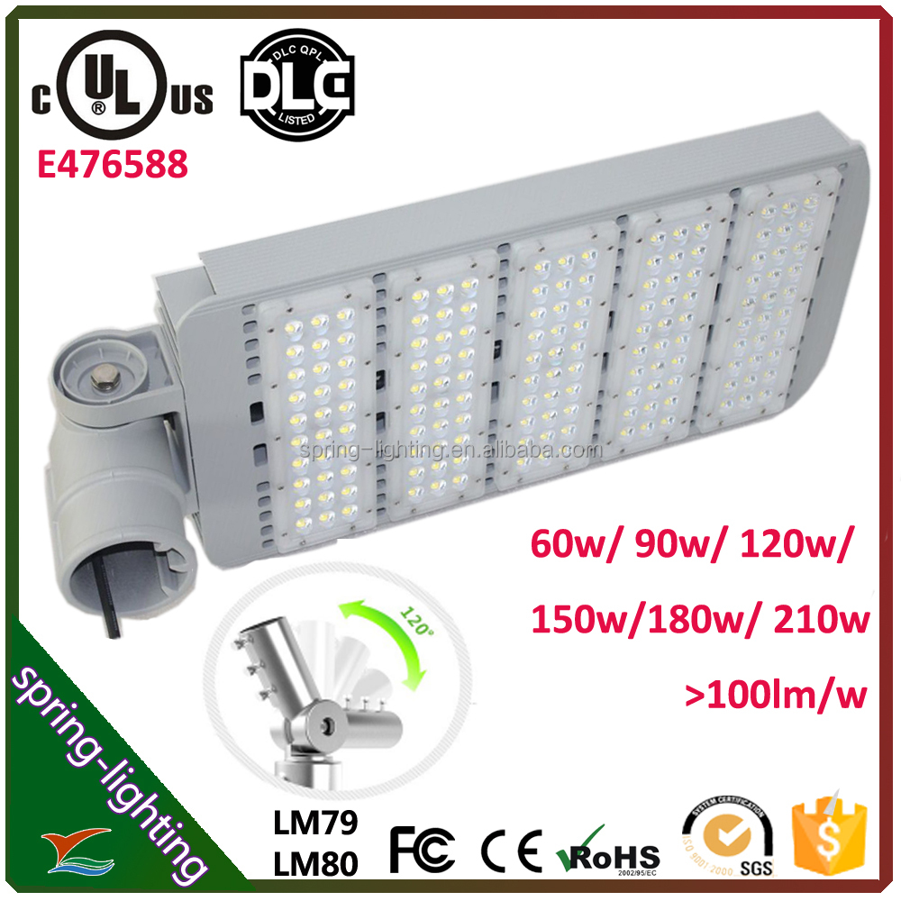 Rotatable UL approved LED street light 150w, dlc led high pole light 150w with Meanwell <strong>driver</strong>