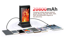2017 Table Stand menu power bank with 7 inch LCD screen