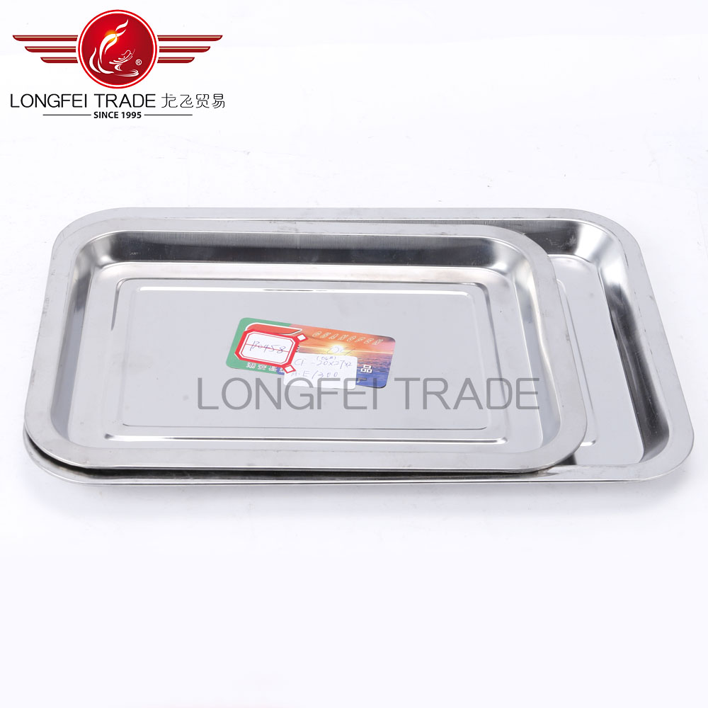 best seling Stainless steel fast food tray square shape food tray/food dish