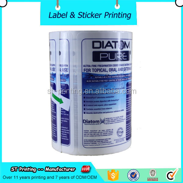 printing plastic sticker ,glass adhesive label paper