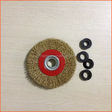 Wire brush for grinder, round, crimped wire, 125mm