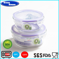 Round Shape Glass Container With Airtight Lid