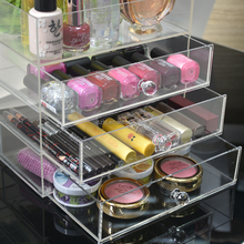 custom clear acrylic makeup organizer