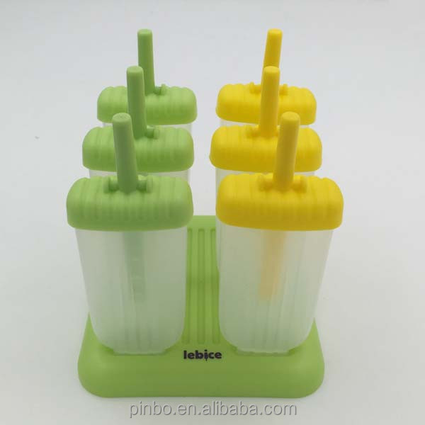 6pcs plasitc popsicle <strong>mould</strong>