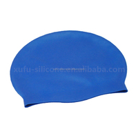 Waterproof soft silicone swimming shower cap stretchable silicone cap for bathing