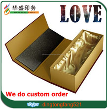 High end 100% real factory luxury strong cardboard package magnetic closure gift box with insertion