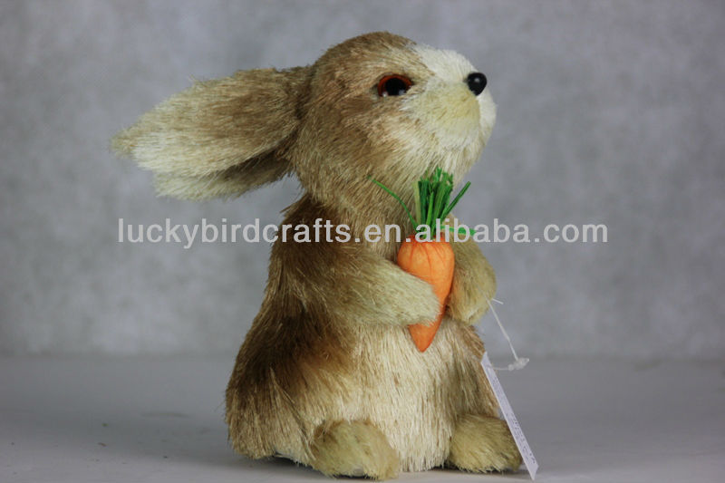 lovely sisal bunny for easter/grass rabbit