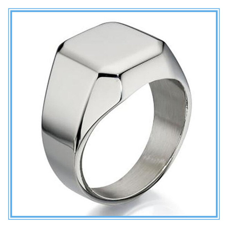 Yiwu Meise Personalise Stainless Steel Mens Signet Ring
