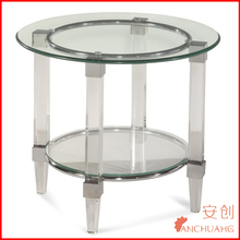lucite acrylic baroque end table side table occasional table