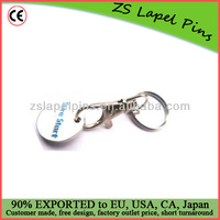 Supermarket trolley coins/ shopping trolley coin keyring/ keychain
