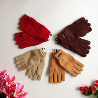 winter acrylic knitted leather palm wool glove export to russia