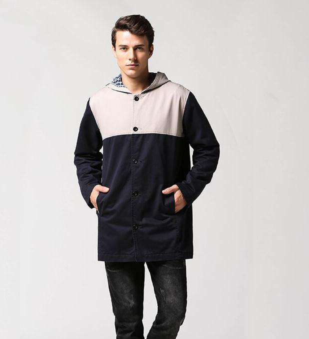 Hot selling cheap winter casual stitches clothing cotton padded coats and european style jackets for men