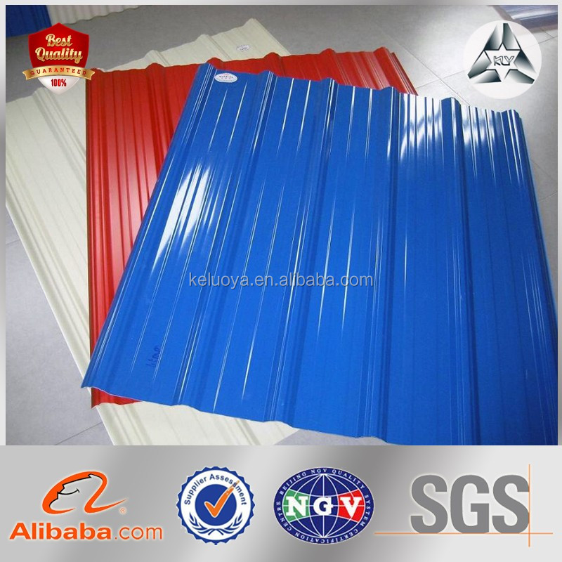 color coated galvanized coils corrugated steel sheet, Navy blue corrugated Steel Wall/Roof sheet
