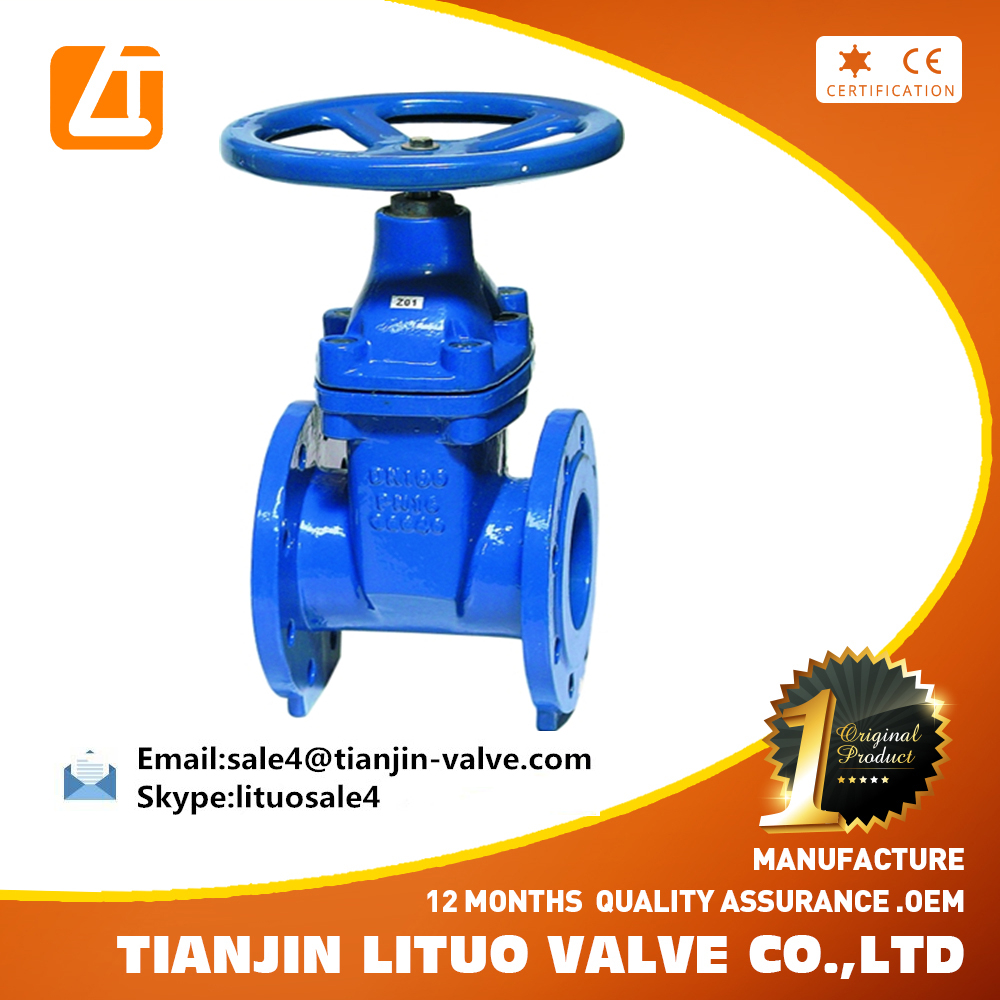 Manufacturer TianjinDN50-300 FM UL fire protection 200PSI NRS Flanged gate valve with wheel