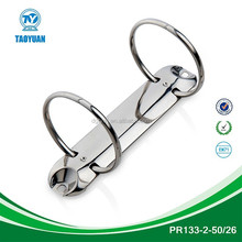 China stationery market hinge ring clip, 2 ring binder mechanism