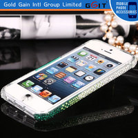 Luxury for iphone 5 case bumper cover with diamond