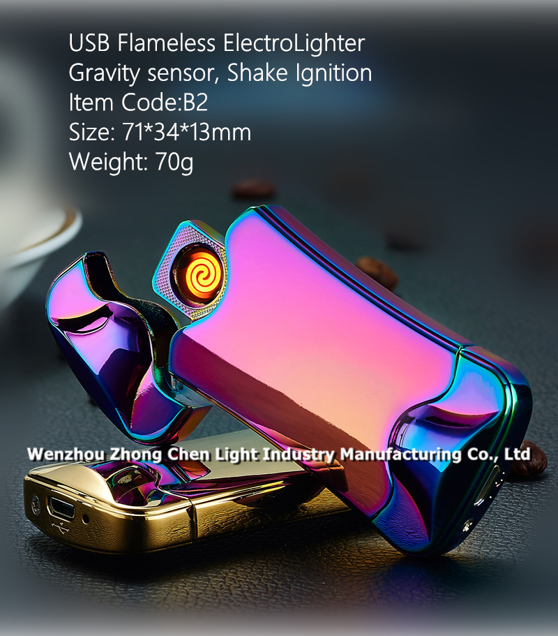 USB Rechargeable Flameless Electro Lighter with Gravity sensor