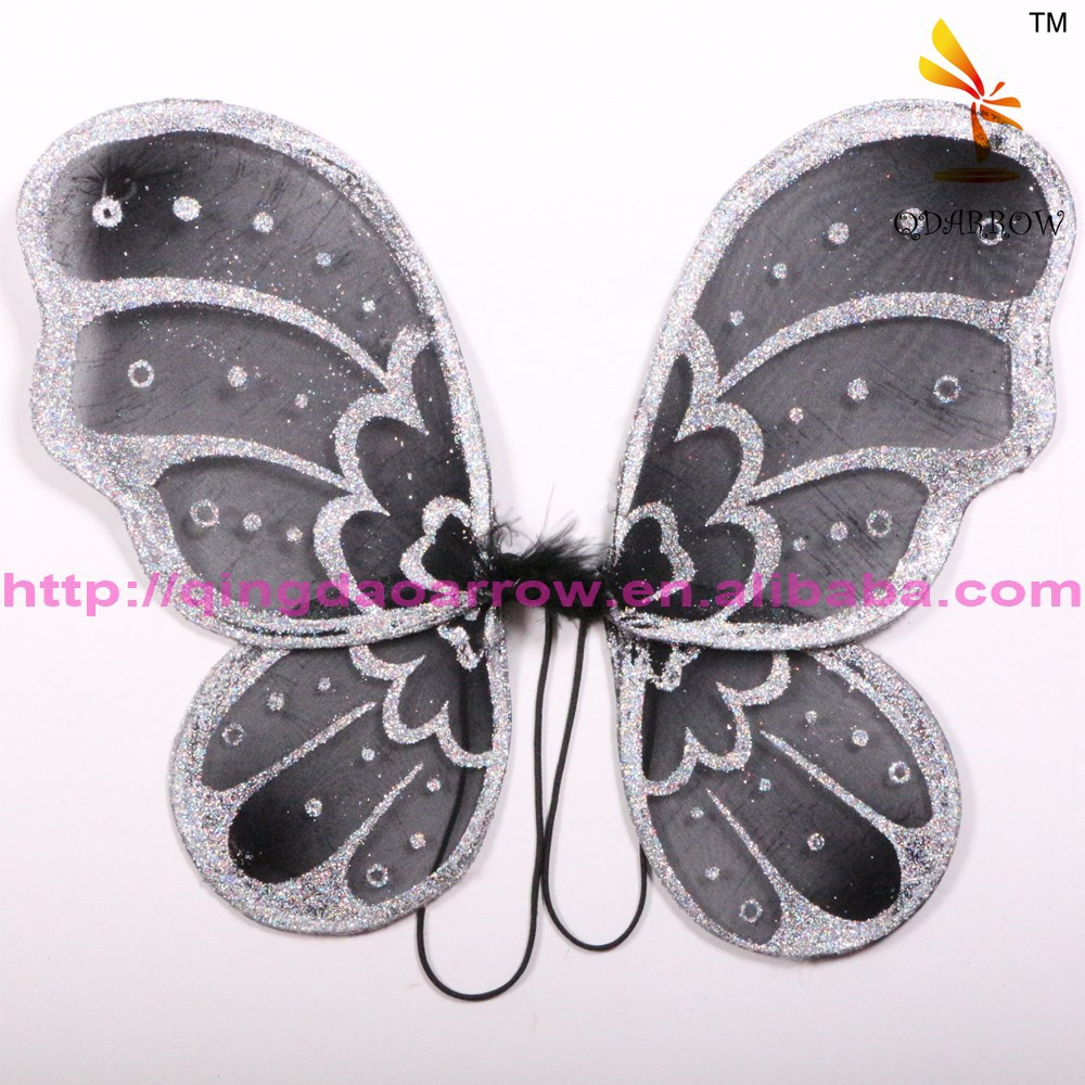 Colorful girls butterfly fairy wings with glitter for party