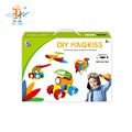 Sales high quality 44pcs soft glue magic blocks magnetic toys for kids