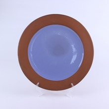 Tableware round blue modern decorative Terracotta ceramic stoneware <strong>plates</strong> thali