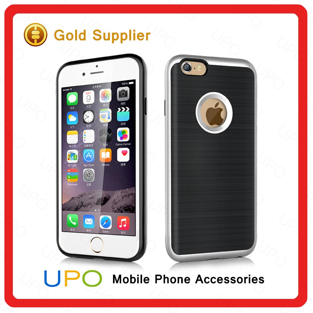 [UPO] New Arrival Ultra Thin Shockproof TPU PC Metal Armor Phone Cover Case for iPhone 5 5s se 6 6s plus 7 7plus