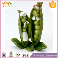 Factory Custom made best home decoration gift polyresin resin vegetable animals figurines