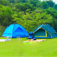 Convenient Detachable Use Camping Tent With Fiberglass Pole