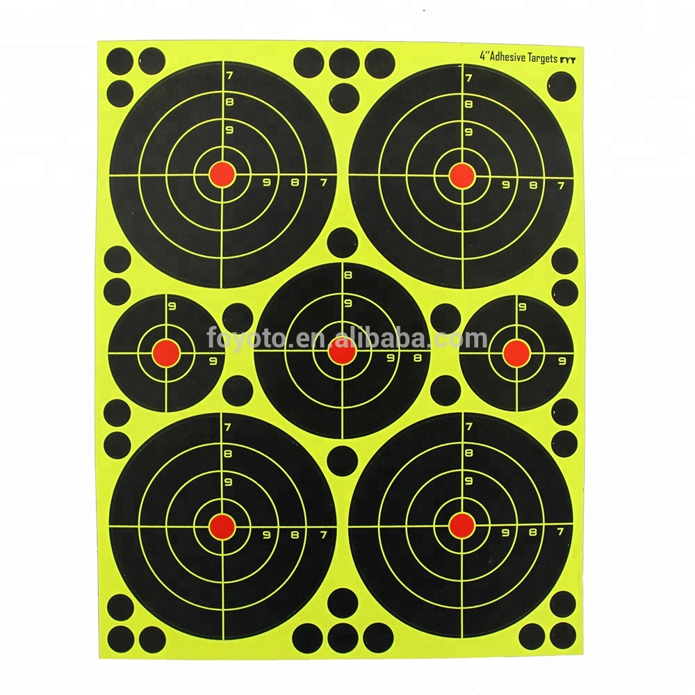 "Splatterburst Targets - 4 inch Adhesive ""Stick & Splatter"" Reactive Shooting Targets - Gun - Rifle - Pistol - AirSoft - BB Gun -"