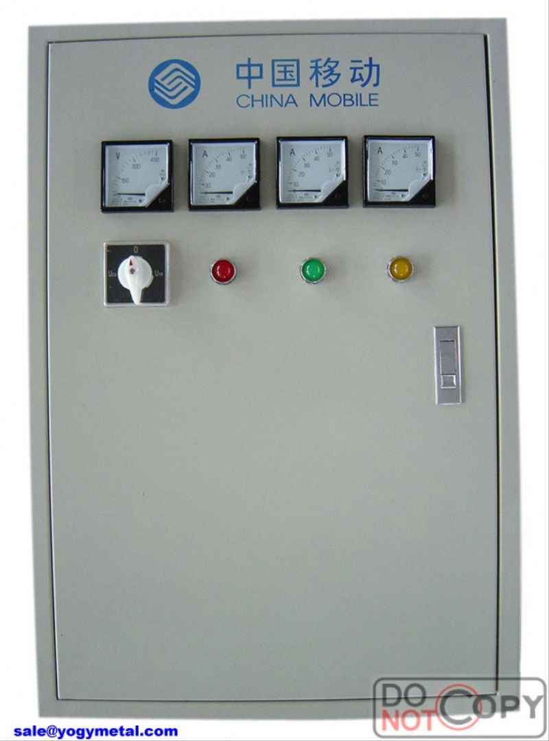 Outdoor single phase energy meter distribution cabinet transparent case