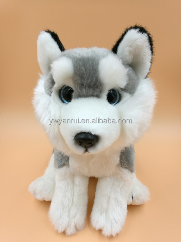 Handmade Simulated Plush Stuffed Husky Dog Toys Wholesale Dog PlushToy