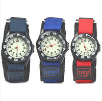 2017 New arrival fabric strap sports watch waterproof Millitary quartz wrist watch strong Luminous Kids watches