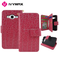 Wholesale PU leather case for Samsung G360 core prime smarthphone with stand function