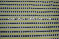 fabric satin polka dot with yellow and black