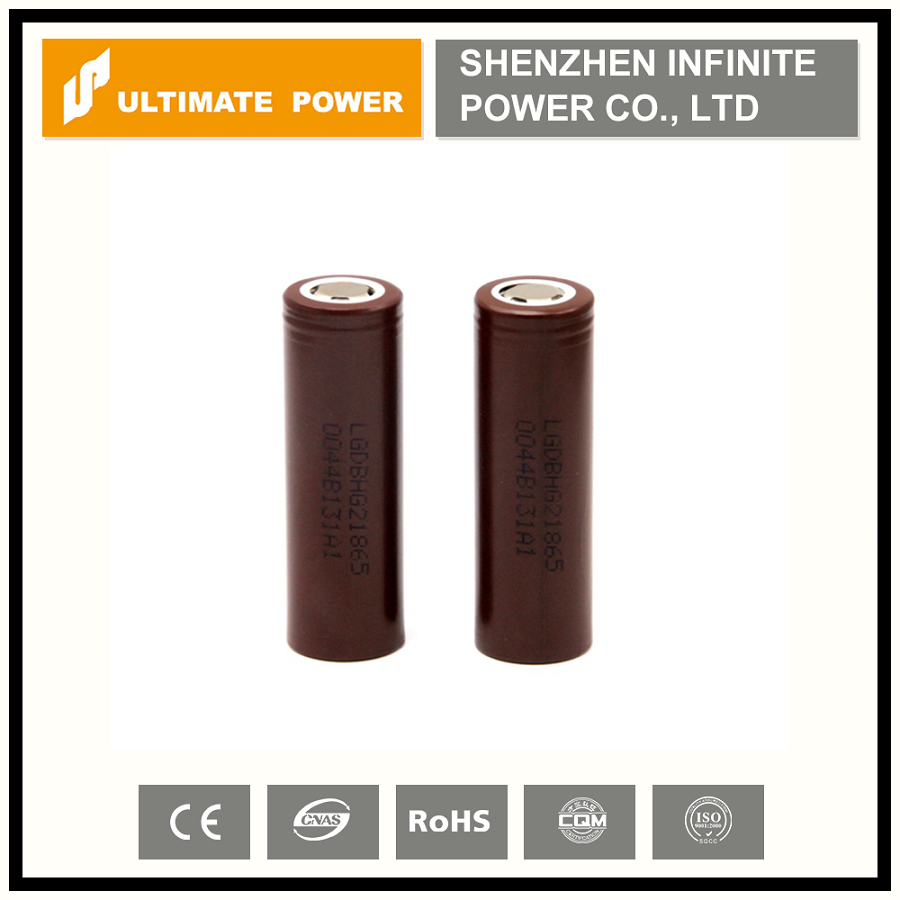 New cylindrical battery in 2016 LG HG2 18650 battery 3.7v 3000mah 35a max discharge for vapor