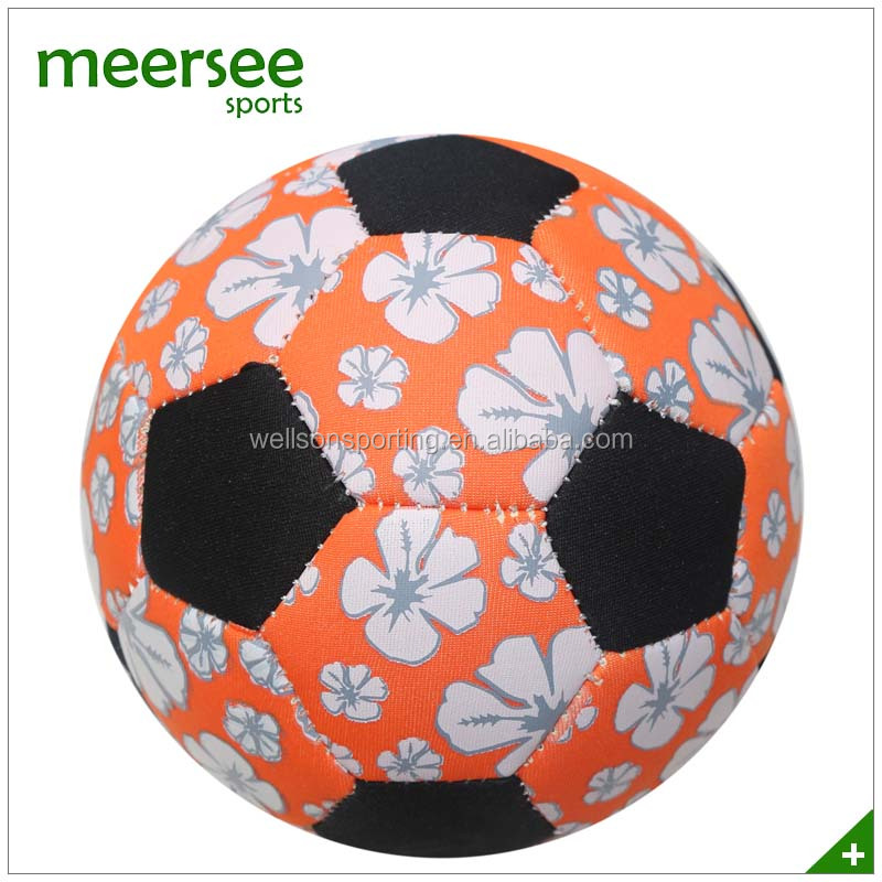 Machine sewn soft small size neoprene inflate soccer