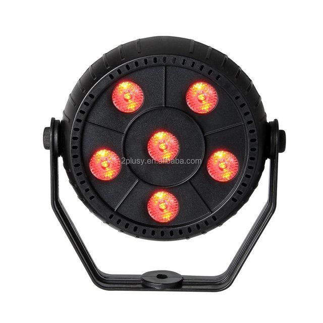 Newest 6pcs LED 3 IN 1 Slim RGB Sound Activated Auto Magic Effect Par LED Stage Lights For Party Pub Home KTV Bar Disco